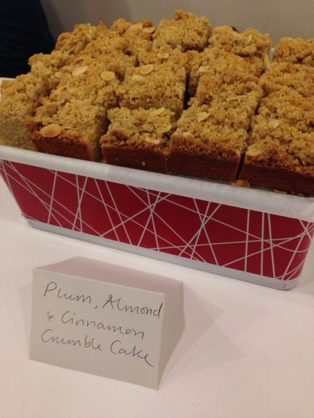 Plum, Almond and Cinnamon Crumble Cake by Naomi Knill
