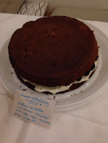 Cinnamon and Blackberry Cake