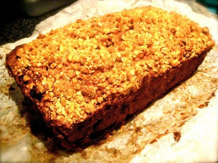 Fruit and Nut Banana Bread with Crumble Topping