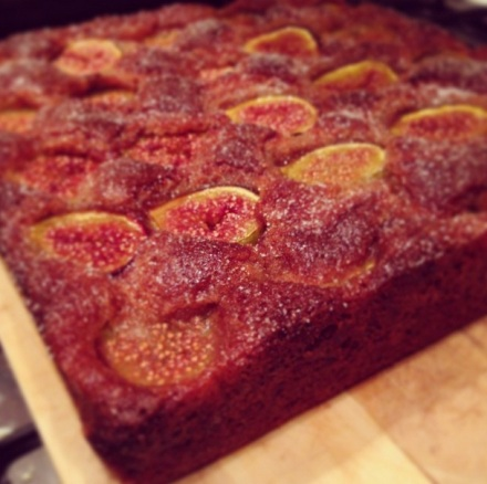 Fig, Ginger and Spelt Cake