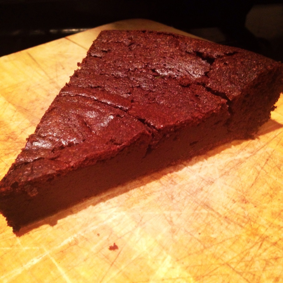 Mexican spiced flourless chocolate cake