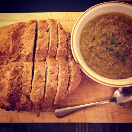 Homemade Soda Bread and Lentil Soup