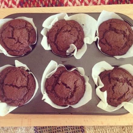 Dan Lepard's Chocolate Custard Muffins
