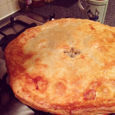 Mushroom, Cheese and Potato Pie