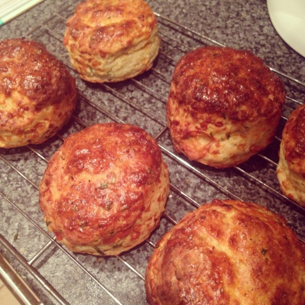 Cheese, Chive and Mustard Scones