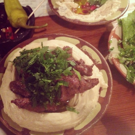 Houmous shawarma