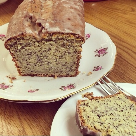 Lemon and poppy seed cake.  Photo by Naomi Knill.