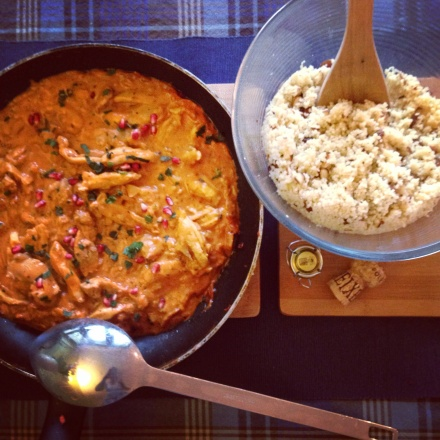 Harissa and Lemon Mustard Chicken with Date and Almnd Cous Cous