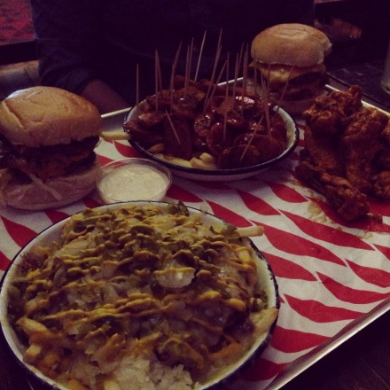 Just one half of our feast at MEATMission