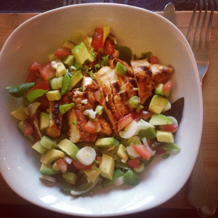 Chipotle Chicken with Tomato-Avocado Salsa