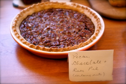 Chocolate, pecan and rum pie from the Band of Bakers 'Baking with Beverages' event, April 2013