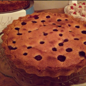 Blueberry and Almond Tart from the Band of Bakers 'Inherited Bakes' event, January 2014. Photo by Naomi Knill