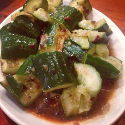 Cucumbers in sauce
