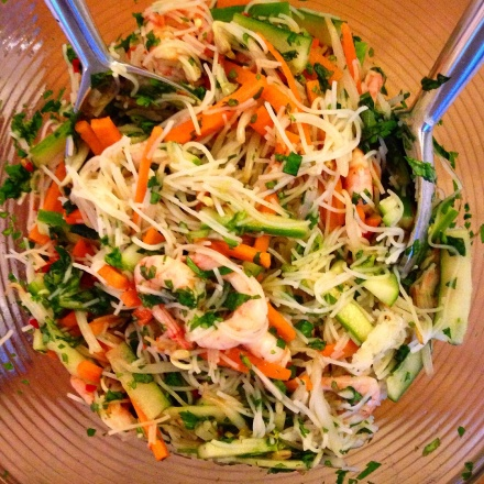 Vietnamese prawn and vermicelli noodle salad