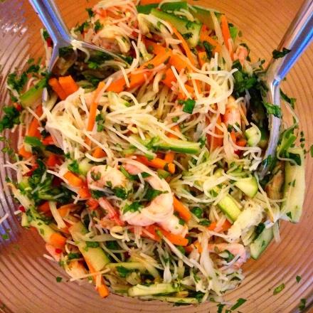 Vietnamese prawn and vermicelli noodle salad