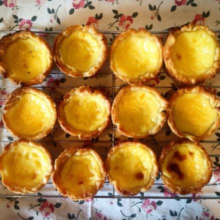 Pastel de nata, or Portuguese custard tarts